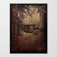 Canvas Print featuring Granny's House by Christine Workman