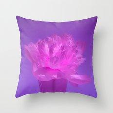 Glowing pink-purple vase Throw Pillow