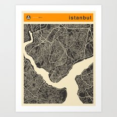 ISTANBUL MAP Art Print