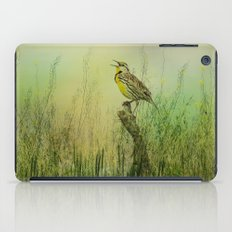 The Meadow Lark Sings iPad Case