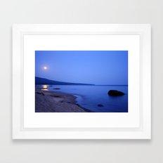 Moon Shimmering on Superior Framed Art Print