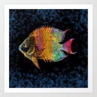 fish Art Prints featuring  Fish by Vitta