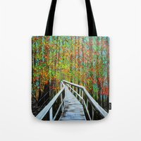 Walkway  In The Woods  Tote Bag
