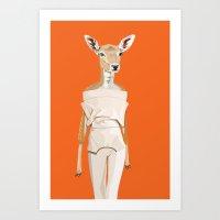 Doe Wearing Felipe Olive… Art Print