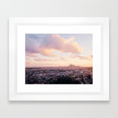 View of Downtown Los Angeles Framed Art Print