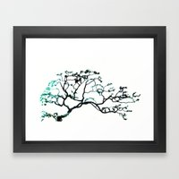 Blue Dogwood Framed Art Print
