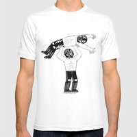 Lucha Libre Mens Fitted Tee White SMALL