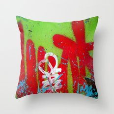 Jardin De Graffiti Throw Pillow