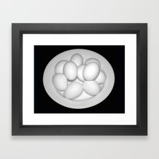 Eggs Still Life Framed Art Print