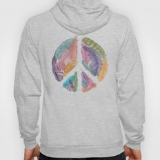 Feathers for Peace (Peace Sign) Hoody