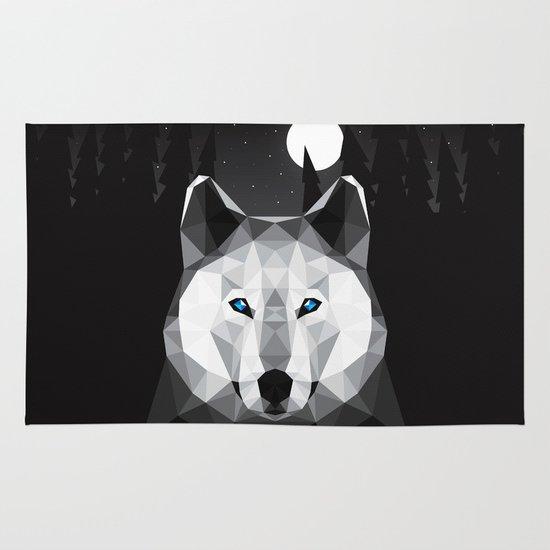 The Tundra Wolf Area & Throw Rug