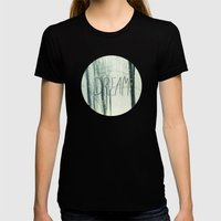 Winter Dream Womens Fitted Tee Black SMALL