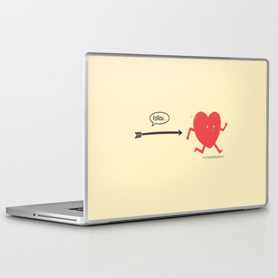 Follow the Heart Laptop & iPad Skin