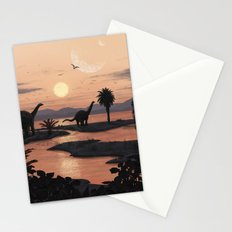 Jurassic Beach Stationery Cards
