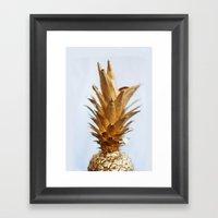 The Gold Pineapple Framed Art Print