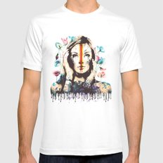 Drips of color SMALL Mens Fitted Tee White
