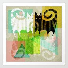 FELINE REFLECTIONS Art Print
