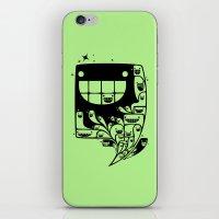 Happy Inside - 1-Bit Oddity - Black Version iPhone & iPod Skin