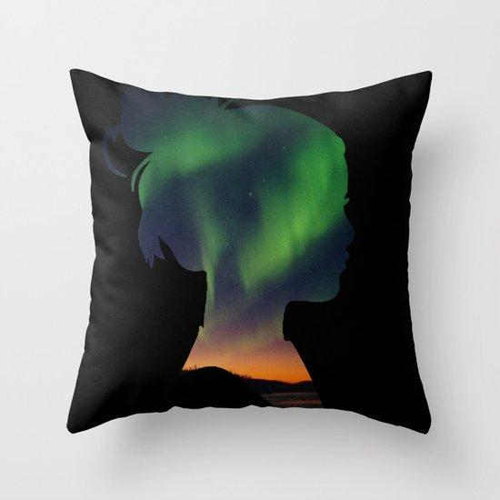 Dreaming Girl Throw Pillow