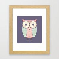 Owl Have Doughnuts Framed Art Print