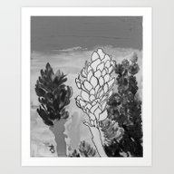 Alpinia Purpurata – Re… Art Print