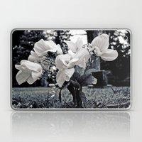 White cemetery flowers Laptop & iPad Skin