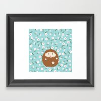 Hedgie In Spring Framed Art Print