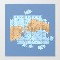 I'm puzzled Canvas Print