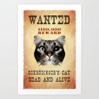 Schrödinger's cat Art Print