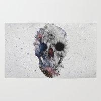 Floral Skull 2 Rug