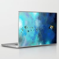 star trek Laptop & iPad Skins featuring star trek by llapheewoo