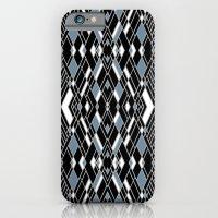 Art Deco Blue iPhone 6 Slim Case