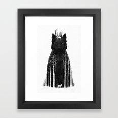 The Wolf King Framed Art Print