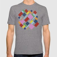 Abstraction #6 Mens Fitted Tee Tri-Grey SMALL