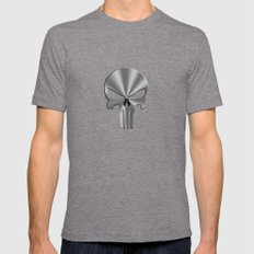 IRON SKULL Mens Fitted Tee Tri-Grey SMALL
