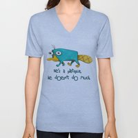 Perry - Pet mode on Unisex V-Neck
