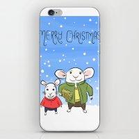 Mice In The Snow - Chris… iPhone & iPod Skin