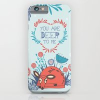 iPhone & iPod Case featuring You are Deer to me by Poppy & Red