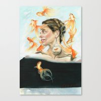 Goldfish Halo Canvas Print