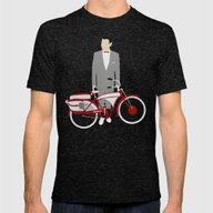 Pee Wee's Big Adventure  Mens Fitted Tee Tri-Black SMALL