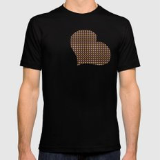 Breakfast pattern Mens Fitted Tee SMALL Black