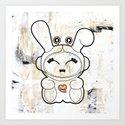 Space Bunny Art Print