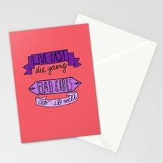 Live Fast, Die Young.. Stationery Cards