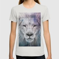 LION Womens Fitted Tee Silver SMALL