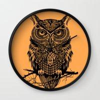 Warrior Owl 2 Wall Clock