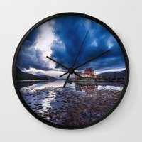 Dark Skies at Eilean Donan Castle Wall Clock