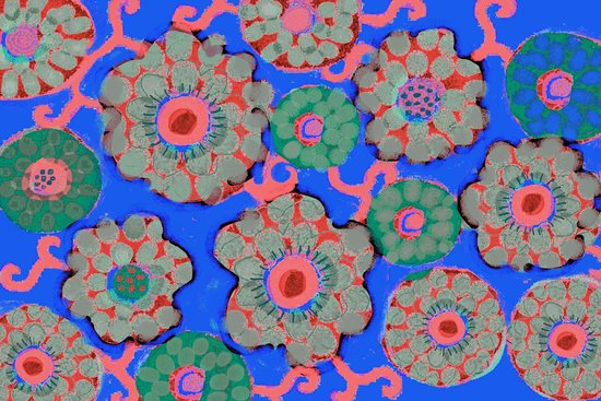Arabesque Blue Art Print