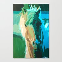 Teal Horse Canvas Print