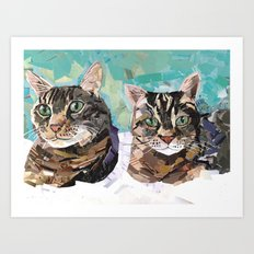 Chester and Mittens Art Print