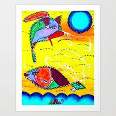 COMET & LILA Art Print